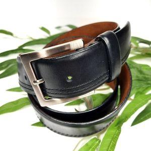 "Cole Haan Flat Black Leather Belt 38"""